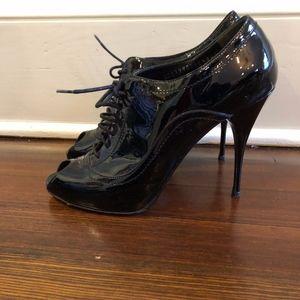 Valentino Peep Toe Booties - Size 40